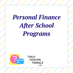 Personal Finance After School Program