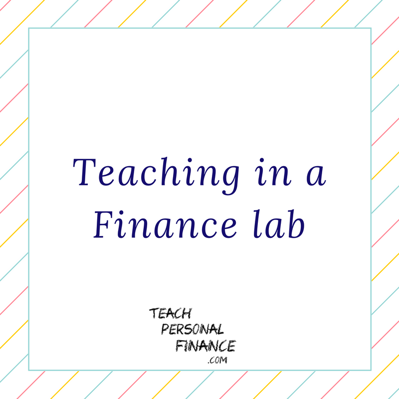 Teaching in a Finance Lab